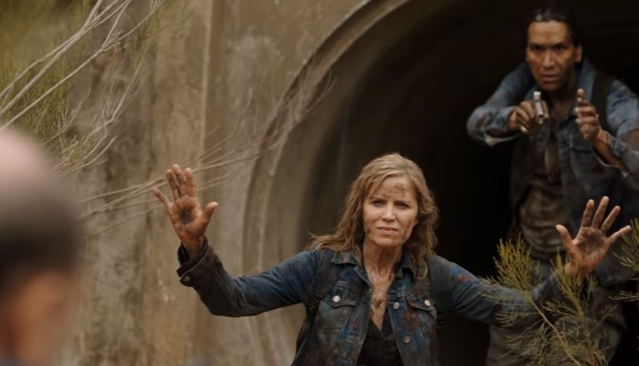 Madison y Taka en el episodio La Serpiente 3x11 de Fear The Walking Dead