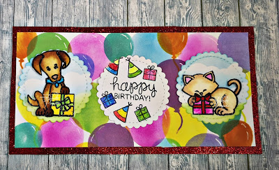 Happy Birthday by Bad Kitty features Let's Pawty by Newton's Nook Designs; #newtonsnook