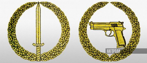 Нагрудні знаки до відзнак Міністерства оборони України «Вогнепальна зброя» і «Холодна зброя»