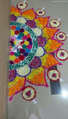 Flower Rangolis for Raksha Bandhan