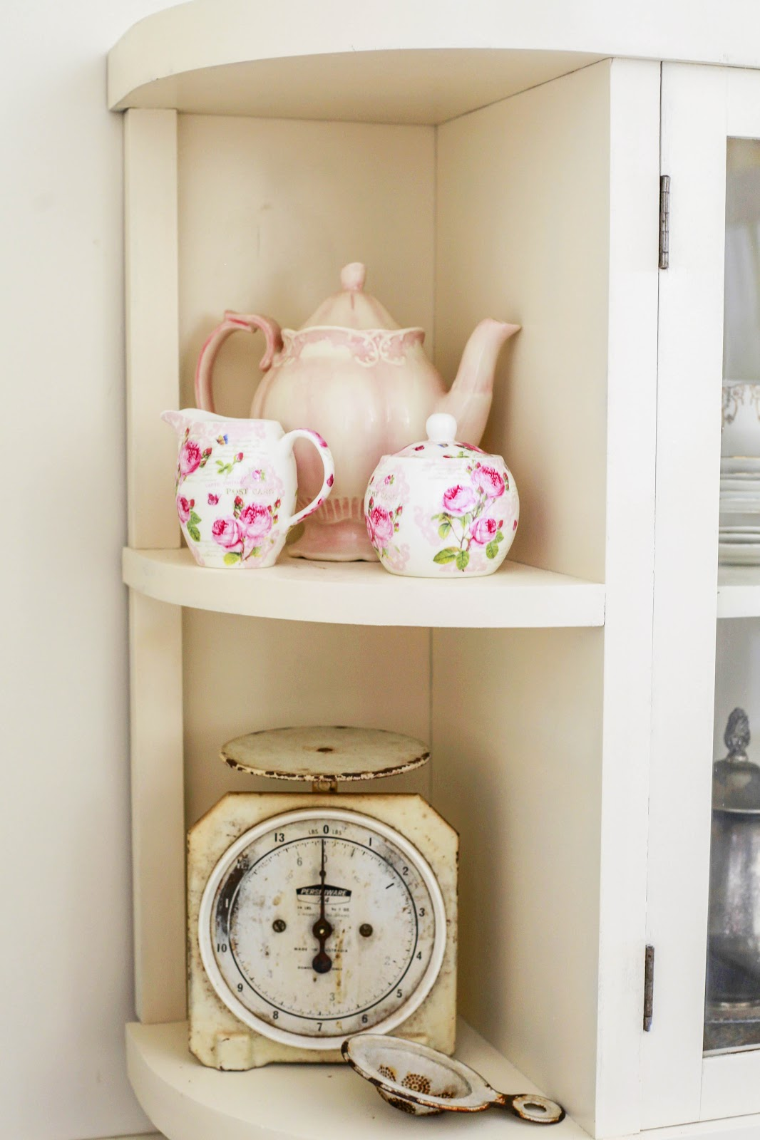 Whimsical Shelves Queen Anne Display Cabinet The Whimsical Wife
