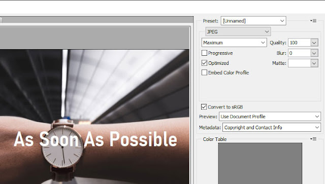 Cara Merubah Kualitas Save Gambar dan Foto di Photoshop