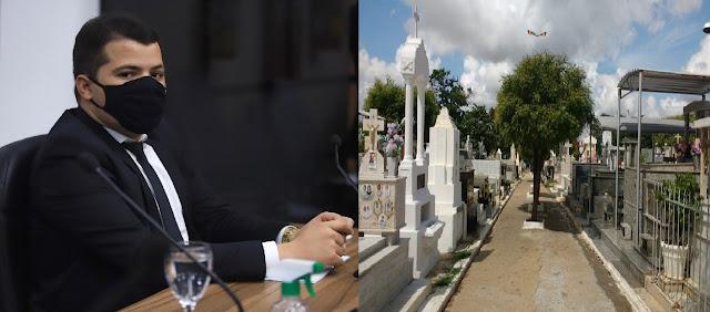 Ítalo Gomes solicita incluir coveiros e agentes funerários nos grupos prioritários de vacinação contra COVID-19 em Patos-PB