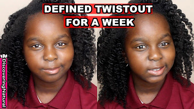 How to Maintain Twist out for a Week | Natural Hair Kids | DiscoveringNatural