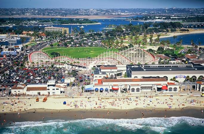 Parque de diversão Belmont Park em San Diego