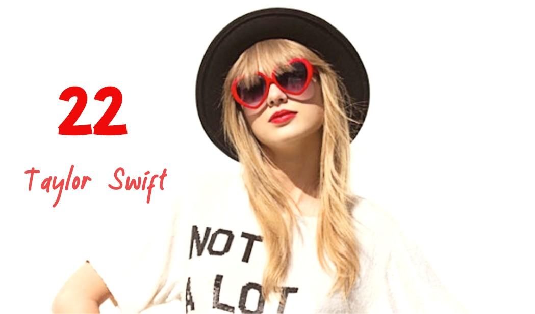 22 Lyrics By Taylor Swift