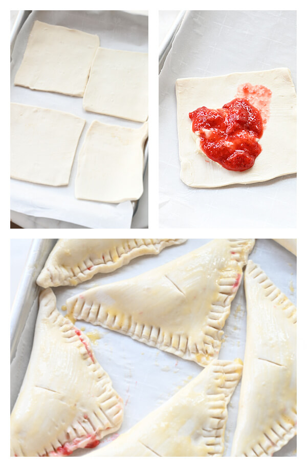 steps to make strawberry cream cheese turnovers