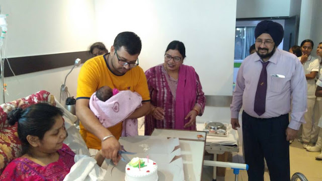Doctors at Indian Spinal Injuries Center deliver first ever baby at the hospital after treating the mother severely paralyzed following a road accident during the eighth month of her pregnancy