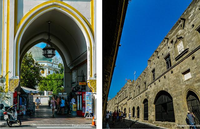 Nea Ágora (o mercado público) e a Cidade Medieval dos Cruzados de Rodes