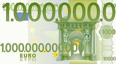 Trillion-euro note