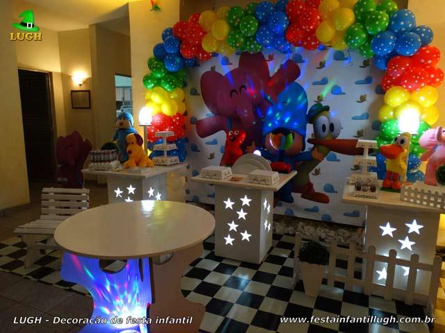 Decoração de festa de aniversário Pocoyo - Mesa decorada infantil
