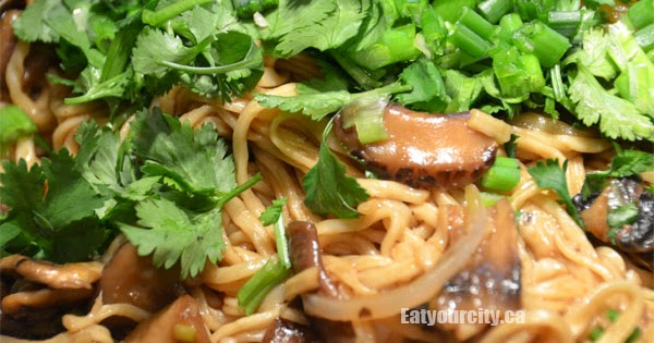 Eat Your City Traditional Chinese Yee Mein Noodles With Chinese Dried Shitake Mushrooms Recipe