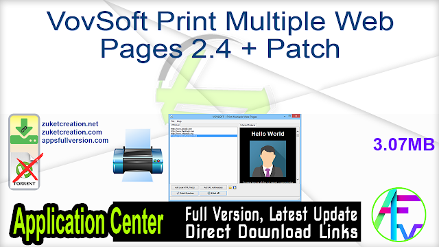 VovSoft Print Multiple Web Pages 2.4 + Patch