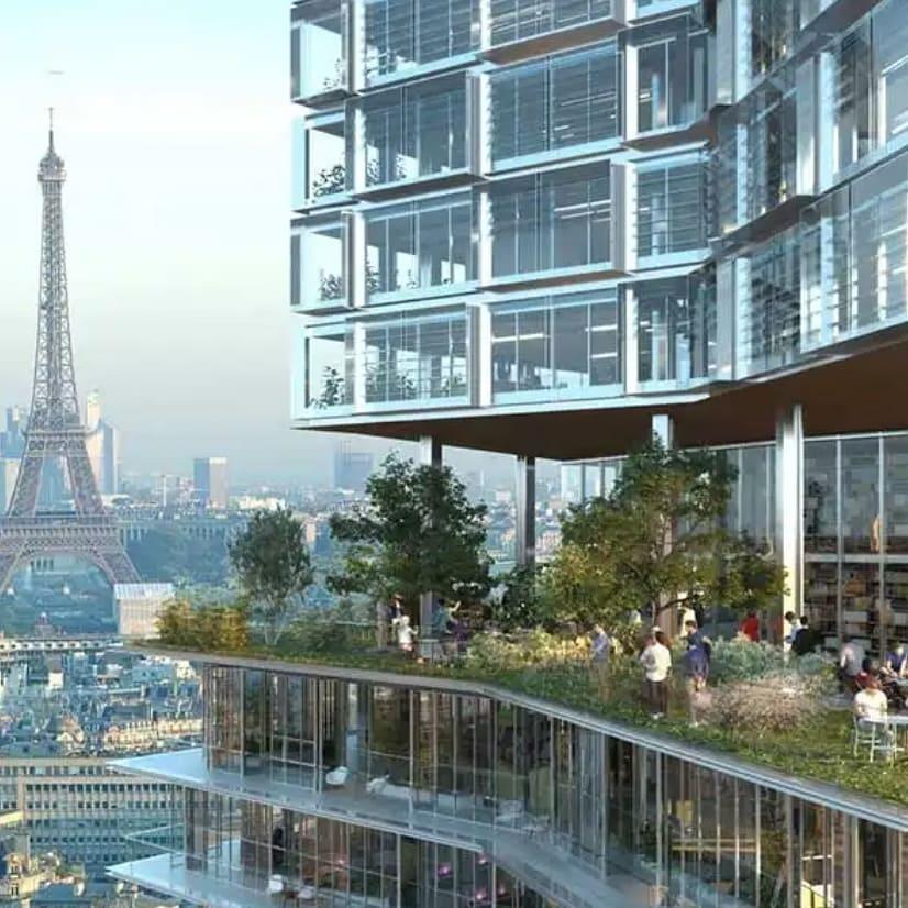 Pemandangan Paris dari Montparnasse Tower
