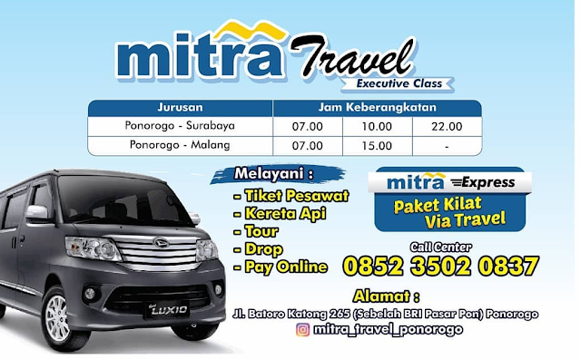 Jadwal Travel Ponorogo Surabaya