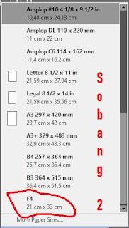 Trik Dan Tips Menambah Ukuran Kertas F4 Pada Printer