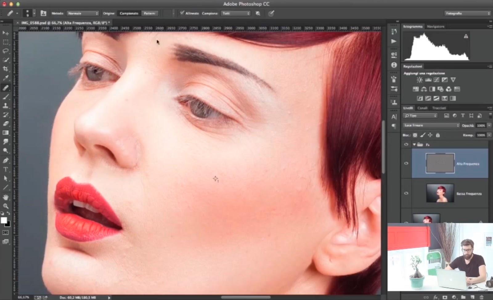 Photoshop Tutorial Pelle e Viso Ritocco Completo ...