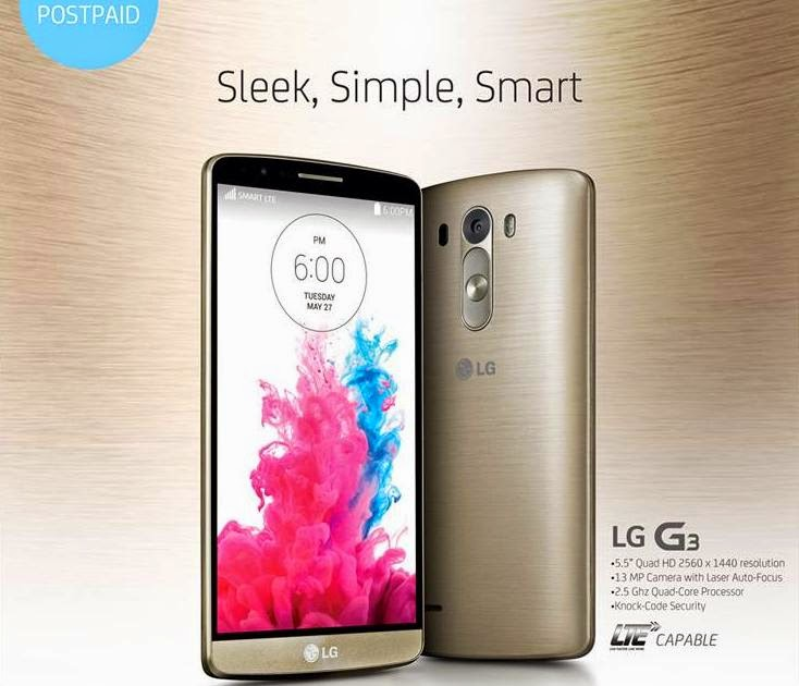LG G3 Now Available At Smart All-In Plan 1800