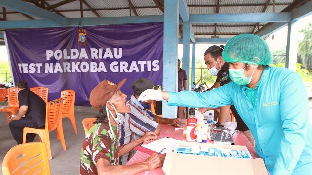 Polda Riau Gratiskan Test Narkoba