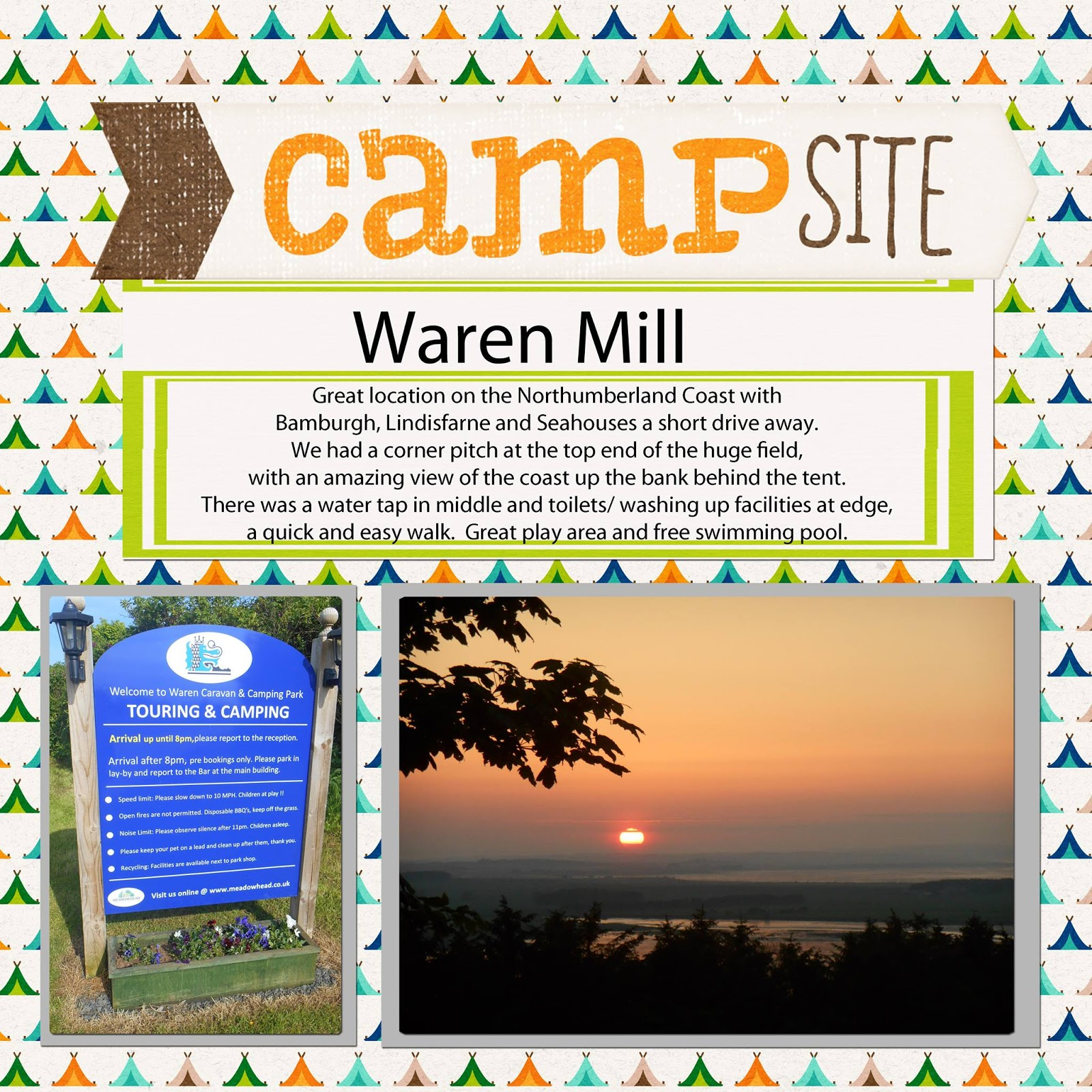 Top 10 Places to camp with your family in the North East & North Yorkshire - Waren Campsite near Bamburgh
