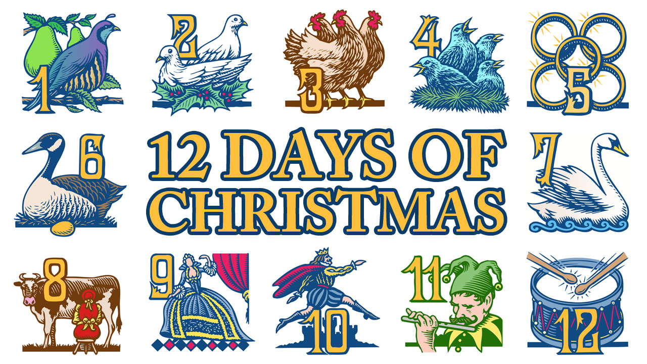 How Many Gifts Are In The Twelve Days Of Christmas.Jonathan Green Author Christmas Explained P Is For Presents
