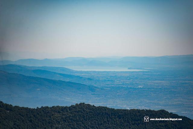 il panorama da Pratomagno