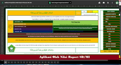 Aplikasi Olah Nilai Raport SDMI