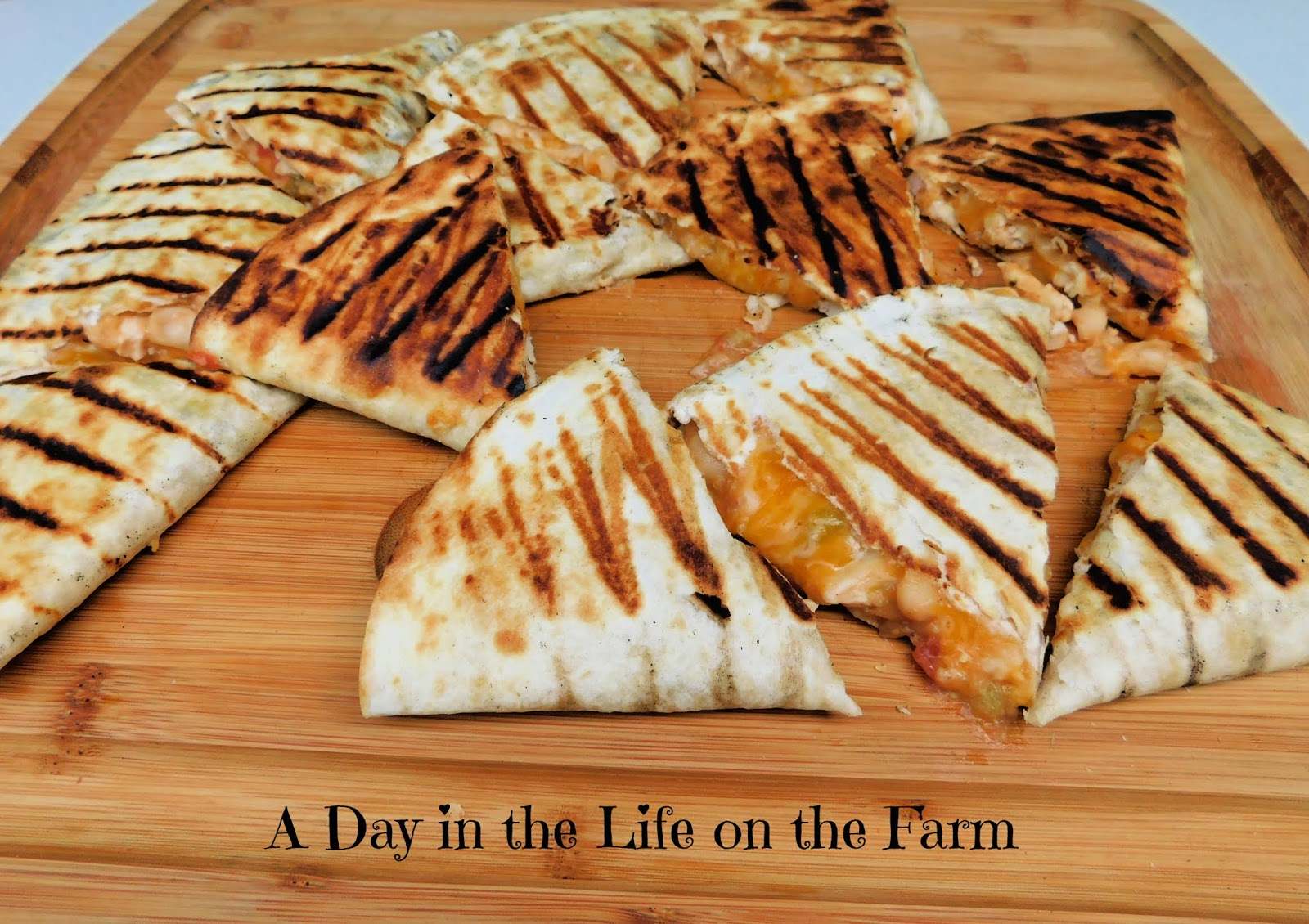 Grilled Chicken and Bean Quesadillas