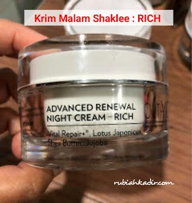 Krim Malam Shaklee - Rich