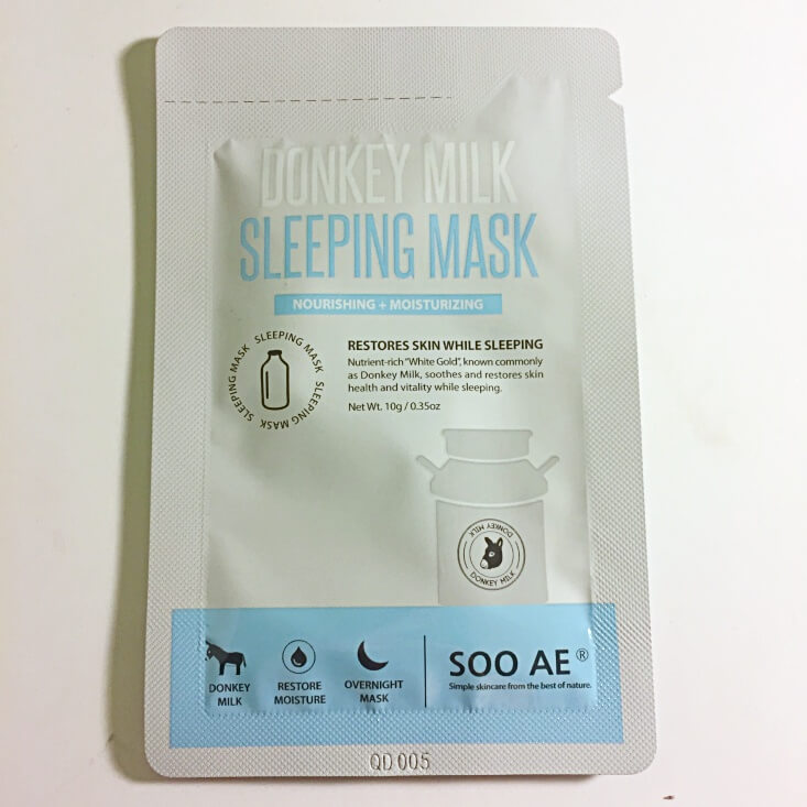 Soo AE Donkey Milk Sleeping Mask