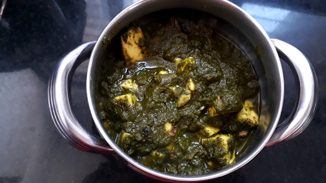 Palak paneer, how to make palak paneer at home just in 20 minutes by the very simple way.