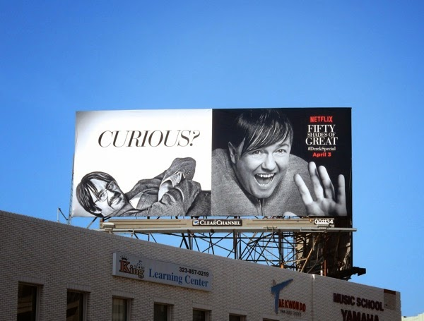 Fifty Shades of Grey Curious Derek spoof billboard