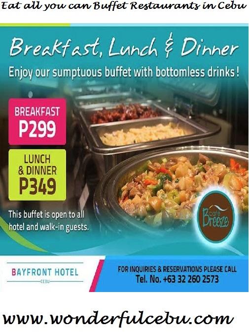 Eat All You Can in Cebu: List of Buffet Places in Cebu   Wonderful Cebu