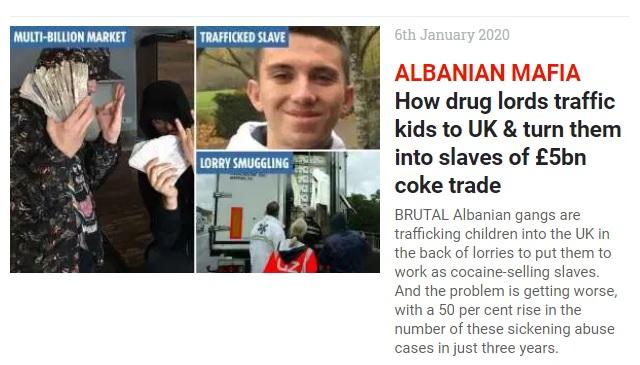 The Sun: come le bande albanesi trafficano i giovani in Gran Bretagna