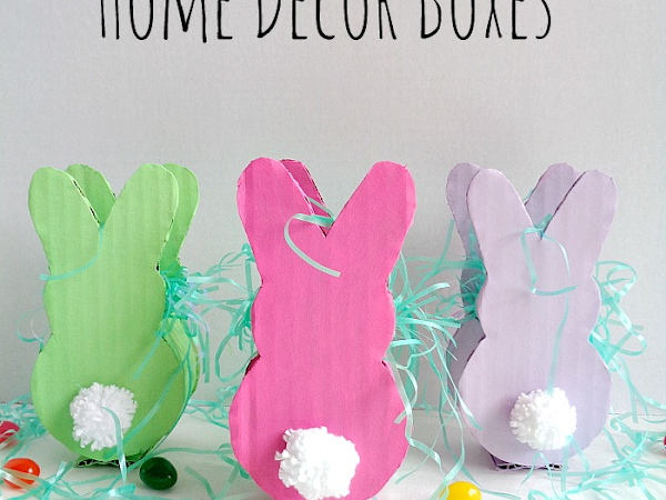 DIY: Cardboard Bunny Home Decor Boxes