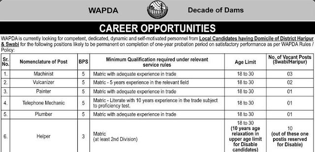 WAPDA Jobs 2021 -  Water And Power Development Authority Wapda Jobs