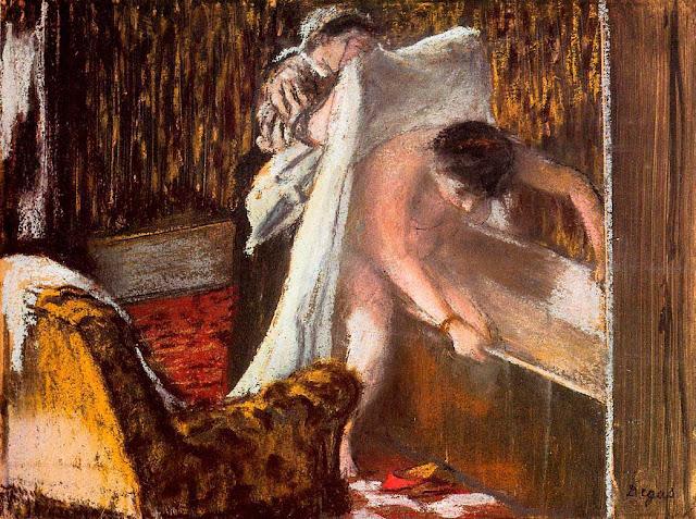 Эдгар Дега - Выход из ванны (1887)