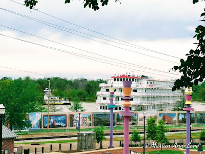 """America"" Paddlewheeler Visits Vicksburg Last Saturday"