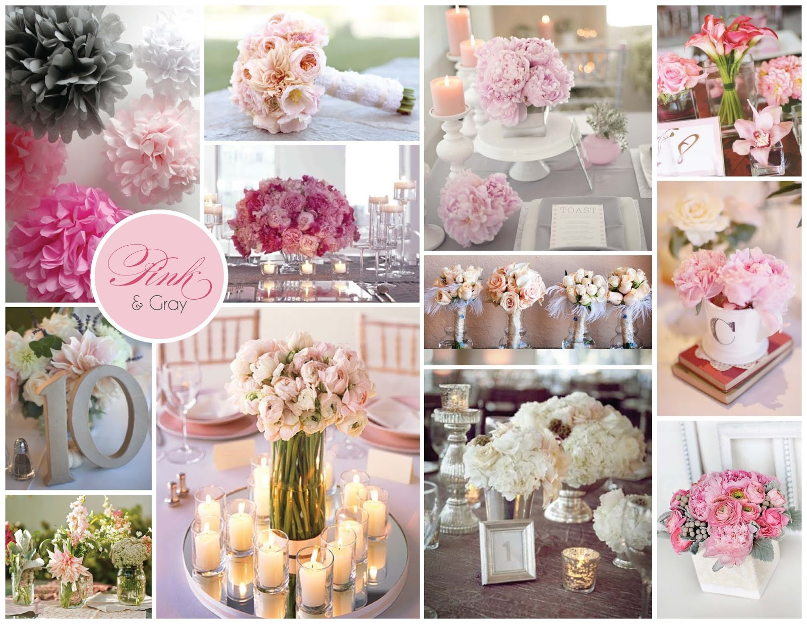 wedding ideas pink and grey dany nery decora 231 227 o rosa e cinza amei 28285