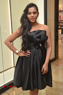 Actress Manasa Himavarsha Pictures in Black Short Dress at The Great Hydrerabad Life Style EXPO II  0034.JPG