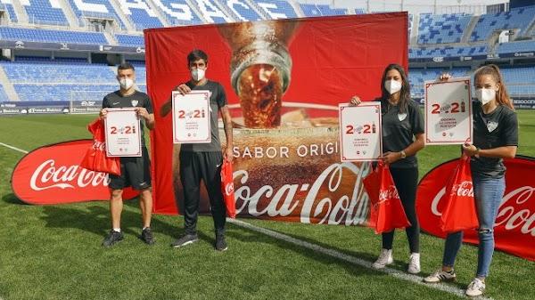 Coca-Cola y el Málaga CF presentan su calendario 2021, con mención a la afición