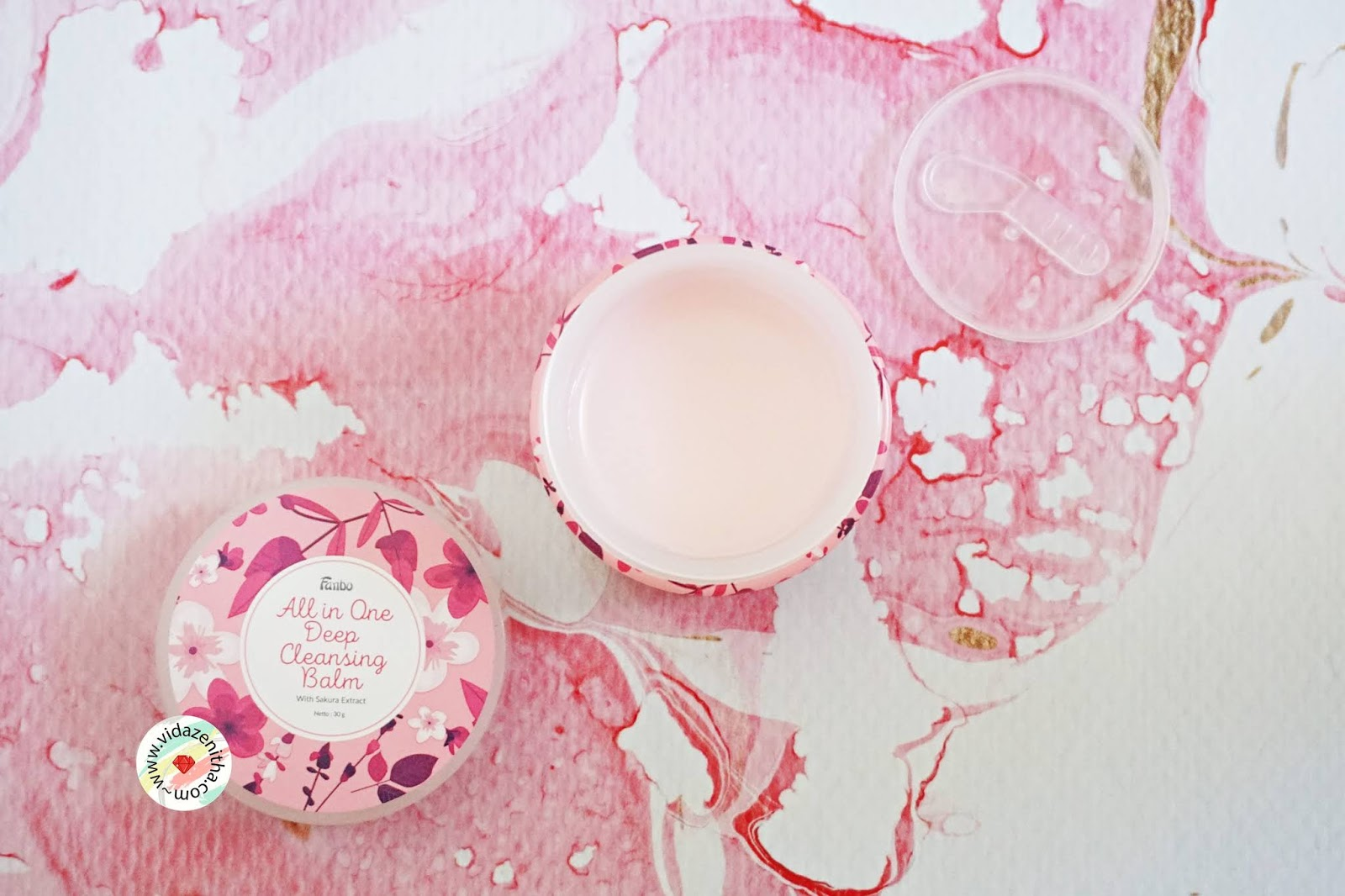 rekomendasi cleansing balm lokal fanbo all in one deep cleansing balm pink sakura