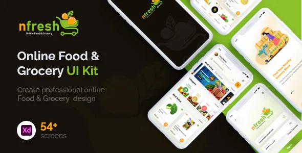 Best Food and Grocery Mobile App UI Kit