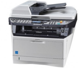 This is a substantial photocopier, based on a fast laser machine and with a black and white casing that lights up.