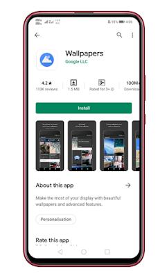 Instal aplikasi Wallpaper