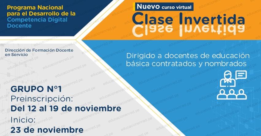 PERUEDUCA: Curso Virtual «Clase Invertida» (Preinscripción hasta el 19 Noviembre) www.perueduca.pe
