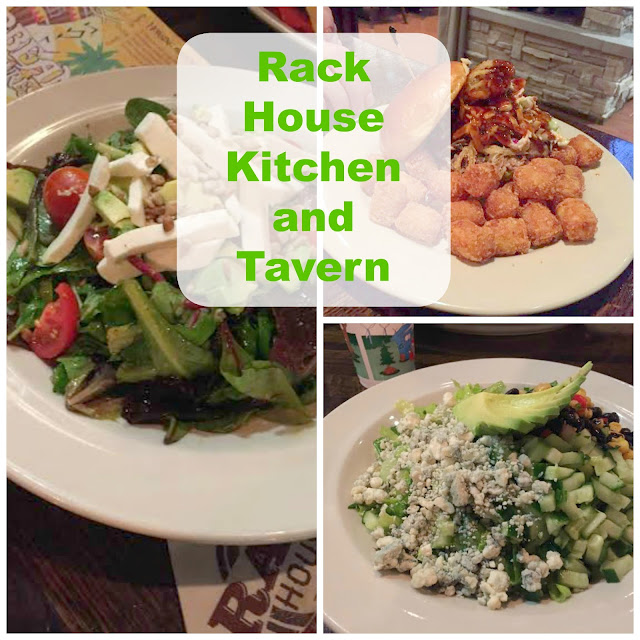 Meals and salads at the Rack House Kitchen and Tavern in Arlington Heights, IL