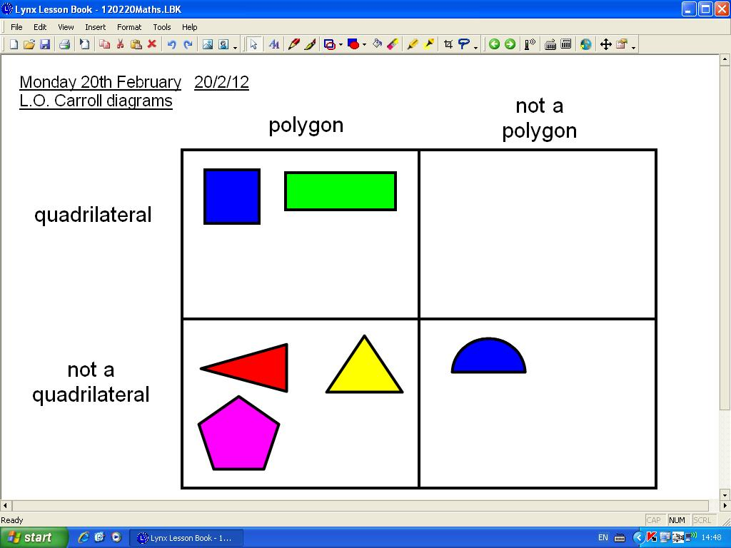 Mr Howe S Class Maths Carroll Diagrams