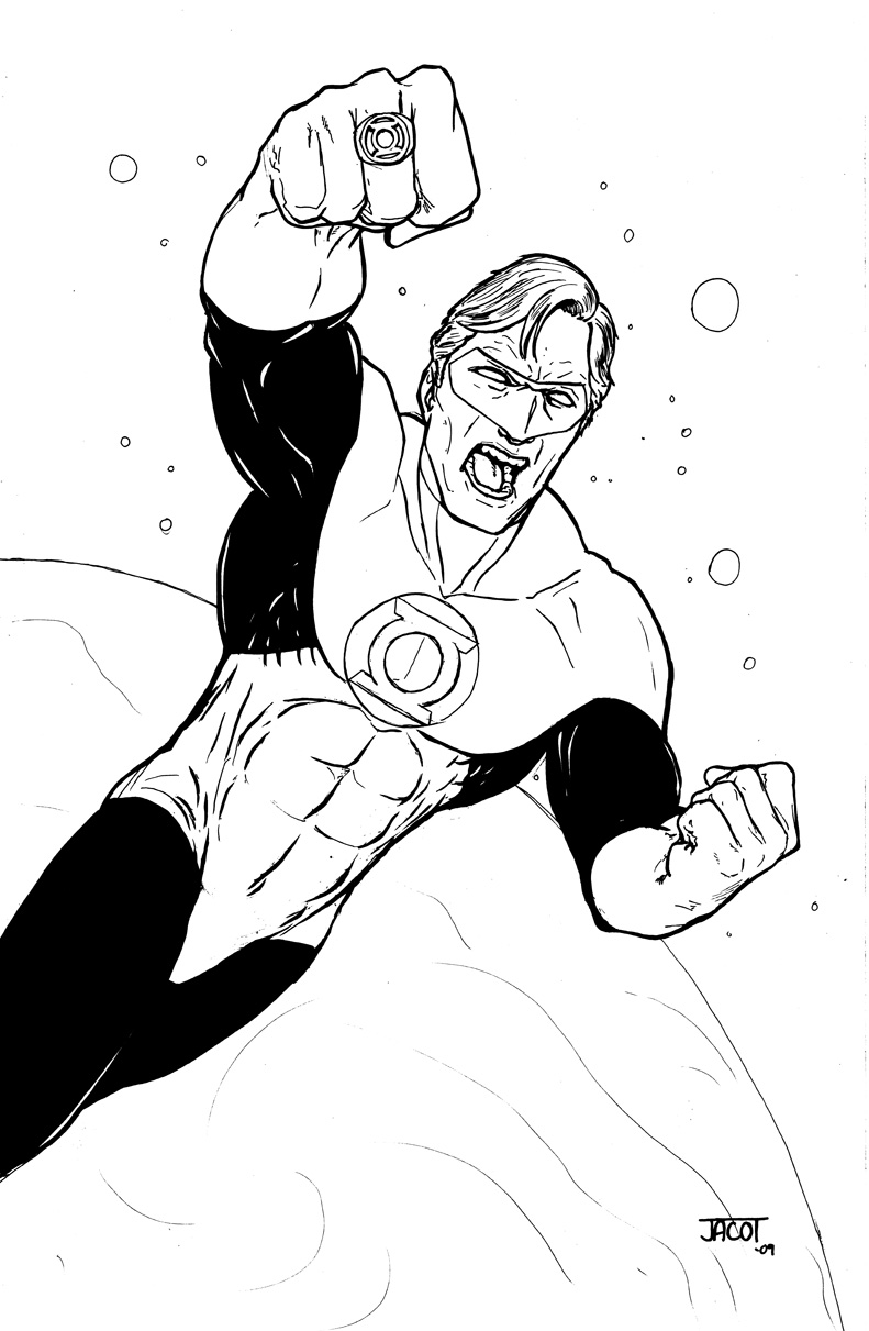 Green Lantern Coloring Pages ~ Free Printable Coloring