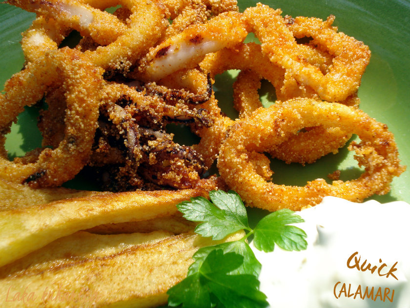 Quick calamari by Laka kuharica: tender on the inside and crisp on the outside.